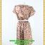 3021ชุดทํางาน เสื้อผ้าคนอ้วนลายจุดน้ำตาลคอกลมกุ๊นแขนกลีบบัวซ้อนสวยเรียบสไตล์ออริจินัล thumbnail 4