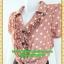 2420เสื้อผ้าคนอ้วน ชุดทำงานคอพวงระบาย ชุดกระโปรงน้ำตาลแต่งคู่เสื้อสีกะปิลายจุดสไตล์หวานน่ารักแขนตุ๊กตามีจีบเล็กน้อยเก็บรายละเอียดมากให้ได้ความสวยงาม thumbnail 3