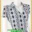 2837ชุดเสื้อผ้าคนอ้วน ชุดทำงานลายกราฟฟิคขาวดำผ้าชีฟองสไตล์เลิศล้ำยุคชุดป้ายสำเร็จเก็บทรงพรางทรงเนี๊ยบสุด thumbnail 2