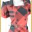 3145เสื้อผ้าคนอ้วน ชุดทำงานตาสก็อตแดงดำ คอเหลี่ยมปกปีกนก กระดุมคู่ แขนตุ๊กตาสไตล์คลาสสิค thumbnail 2