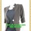 2700ชุดทํางาน เสื้อผ้าคนอ้วนแจ๊คเก็ตเทาคลุมด้านนอกคล้ายสวมทับเกาะอกด้านในสไตล์สาวมั่นใจ คล่องตัว thumbnail 3