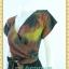 1840ชุดเดรสทำงาน เสื้อผ้าคนอ้วนสีโค้กลายริ้วเข้มคอวีป้ายแขนสโลปเข้าได้ทุกวงแขน สไตล์เดรสสปอร์ตเรียบง่าย thumbnail 2
