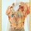 1927ชุดทํางาน เสื้อผ้าคนอ้วนลายพริ้นท์พรางสรีระไม่เน้นจุดสนใจคอผูกโบกระดุมหน้าตีเกล็ดสไตล์สุภาพ เรียบร้อย มีซับใน thumbnail 3