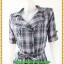 2860เสื้อผ้าคนอ้วน ชุดทำงานลายตารางสีเทาทรงโค้ทสไตล์ตะวันตก ปกเทเลอร์กระดุมคู่ สไตล์สาวเทห์ คล่องตัวสุภาพมีสไตล์ thumbnail 3