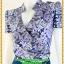 2846ชุดเสื้อผ้าคนอ้วน ชุดทำงานคอจีนลายกุหลาบม่วงสไตล์เปรี้ยวหรูไฮโซชุดคอจีนป้ายสำเร็จเก็บทรงเนี๊ยบสุด thumbnail 3