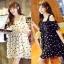ชุดเดรสแฟชั่นกึ่งเสื้อ ผ้าชีฟองสวยหวานสไตล์เกาหลี มี 2 สี(ดำ/ขาว)-1033 thumbnail 2