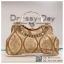 กระเป๋าออกงาน TE012: กระเป๋าออกงานพร้อมส่ง กระเป๋าคลัช วินเทจ สีทอง แบบมีหูหิ้ว ดีเทลคริสตอล มาพร้อมงานปักสุดหรู ราคาถูกกว่าห้าง ถือออกงาน หรือ สะพายออกงาน สวย หรู ดูดีเริ่ดมากค่ะ thumbnail 1