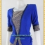 3167ชุดทํางาน เสื้อผ้าคนอ้วนผ้าไทยสีน้ำเงินแต่งพื้นและลายคั่นด้วยกุ้นสี แขนยาว สไตล์เนี๊ยบสุดหรูมีรสนิยมเลือกชุดทำงาน thumbnail 3