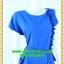 2526เสื้อผ้าคนอ้วน ชุดทำงานคอกลมแขนเลยแต่งจีบข้างลำตัวและระบายชายเอวด้วยลายกระโปรงลายผ้าไทยสะดุดตา thumbnail 2