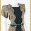 3173ชุดทํางาน เสื้อผ้าคนอ้วนผ้าไทยสีทองคลุมตัวในสีดำสไตล์เนี๊ยบเรียบง่ายสะดุดตาด้วยเส้นไหมชายเอว thumbnail 2