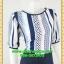 2719เสื้อผ้าคนอ้วน ชุดทำงานคอกลมเล่นลายผ้าด้านหน้าและหลังแขนยาวเอวต่อกระโปรงสีพื้นสไตล์หวานเรียบร้อย สุภาพ thumbnail 2