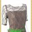 2893เสื้อผ้าคนอ้วน ชุดออกงานปูลูกไม้โปร่งบริเวณหน้าอกแต่งแขนโปร่งสไตล์หรูหวานซ่อนเปรี้ยวสไตล์ออกงาน thumbnail 2