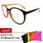 แว่นตา แว่นแฟชั่น ป้องกัน UV400 กรอบสีดำส้ม thumbnail 1