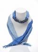 ผ้าพันคอสีน้ำเงินทูโทน ประดับหินลาพิสลาซูลี