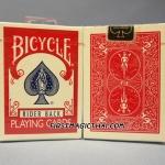 ไพ่สะสมสำรับนักเล่นกล Bicycle สีแดง