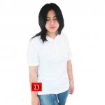 เสื้อยืดคอจีน Cotton100% XL สีขาว