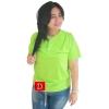 เสื้อยืดคอจีน Cotton100% L สีเขียวตอง