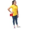 เสื้อยืดคอจีน Cotton100% M สีเหลือง