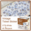 Vintage Ticket Sticker [VTS-White]