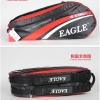 กระเป๋า Eagle ใบกลาง สีดำลายแดง