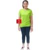 เสื้อยืดคอจีน Cotton100% M สีเขียวตอง