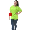 เสื้อยืดคอจีน Cotton100% XL สีเขียวตอง