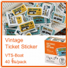 Vintage Ticket Sticker [VTS-Boat]