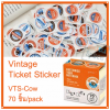 Vintage Ticket Sticker [VTS-Cow]