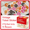 Vintage Ticket Sticker [VTS-Red bird]