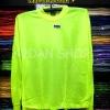 เสื้อยืดผ้าTC แขนยาว จั้มแขน สีเหลืองสะท้อนแสง