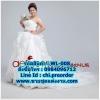 ชุดแต่งงานคนอ้วนแบบเกาะอกมีหางยาว WL-008 Pre-Order (เกรด Premium)