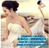 ชุดแต่งงาน แบบเกาะอก น่าสนใจมาก w-036 Pre-Order