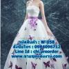 ชุดแต่งงาน แบบเกาะอก w-058 Pre-Order