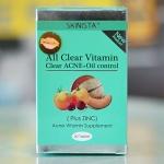 All Clear Vitamin by SKINISTA วิตามินเคลียร์สิว ผิวเนียนใส 30เม็ด ของแท้ ราคาถูก ส่ง EMS