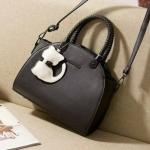 กระเป๋าแฟชั่น เกาหลี ขนาด12 นิ้ว มี 4 สี ดำ ครีม ฟ้า ชมพู