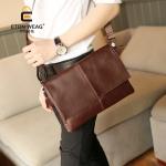 พร้อมส่ง กระเป๋าสะพายข้างผู้ชาย Messenger ใส่ ipad 9.7 ได้ รหัส Man-6132 สีน้ำตาล