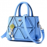 พร้อมส่ง กระเป๋าผู้หญิงถือและสะพายข้าง แฟชั่นสไตล์เกาหลี รหัส KO-165 สีฟ้า 1 ใบ
