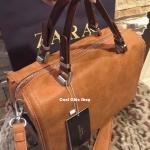 กระเป๋าแฟชั่น ZARA SQUARE BOWLING BAG มี 2 สี ดำ น้ำตาล