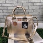 กระเป๋าแฟชั่น KEEP Bow office handbag มี 2 สี เงิน ทอง