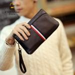 พร้อมส่ง กระเป๋าคลัทซ์ พร้อมสายคล้องมือผู้ชายแฟชั่นเกาหลี รหัส Man-6034 สีดำ