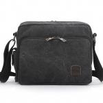 พร้อมส่ง กระเป๋าผ้าสะพายข้าง แบบพกพาสะบายๆ ช่องเก็บของเพียบ แฟชั่นเกาหลี Fashion bag รหัส G-684 สีดำ
