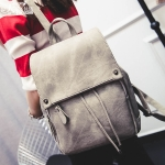 พร้อมส่ง กระเป๋าเป้สะพายหลัง เป้เดินทาง เป้นักเรียนผู้หญิงแฟชั่นเกาหลี TIANCAI รหัส B-103 สีเทา
