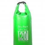 กระเป๋ากันน้ำ Dry pack 20L-สีเขียวตอง