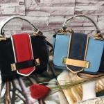 กระเป๋าแฟชั่น ZARA CONTRAST MINI CITY BAG มี 2 สี ฟ้า ดำ