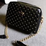 พร้อมส่ง กระเป๋าเป้สะพายข้าง ทแยงมุม แฟชั่นเกาหลีน่ารัก Fashion bag รหัส G-619-M สีดำ 1 ใบ