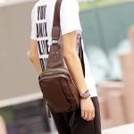 พร้อมส่งกระเป๋าผู้ชายคาดไหล่ แฟขั่นเกาหลี ใส่ ipad 7.9 นิ้ว รหัส Man-2090 สีน้ำตาล 2 ใบ