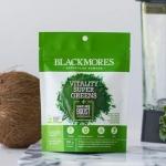 Powder Vitality Super Greens+Nature Boosts Antioxidants, Blackmores ต้านอนุมูลอิสระ ชะลอวัย