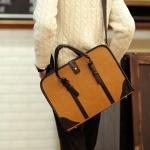 พร้อมส่ง กระเป๋าผู้ชายถือและสะพายข้างแฟขั่นเกาหลี กระเป๋านักธุรกิจ รหัส Man-7811-7 สีเหลือง