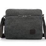 พร้อมส่ง กระเป๋าผ้าสะพายข้าง แบบพกพาสะบายๆ ช่องเก็บของเพียบ แฟชั่นเกาหลี Fashion bag รหัส G-684 สีเทา