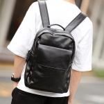 พร้อมส่ง กระเป๋าเป้สะพายหลัง นักเรียนเแฟขั่นเกาหลี รหัส Man-9801-7 สีดำ